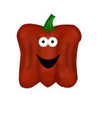 Red Cartoon Bell Pepper Royalty Free Stock Photos