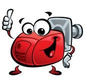 Cartoon burner. Red cartoon burner making a thumb up gesture Stock Image