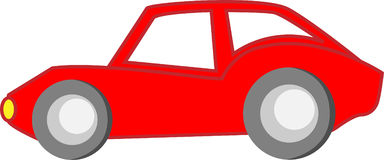 Red Cartoon Car Stock Photography