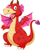 Red cartoon dragon Royalty Free Stock Photos