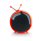 Red cartoon glossy TV-set Royalty Free Stock Image