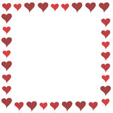 Red Cartoon Hearts Frame Stock Image