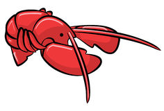 Red cartoon lobster Royalty Free Stock Photography