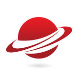 Red cartoon planet Stock Photography