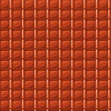 Red cartoon red roofing roof tile seamless texture Royalty Free Stock Photography