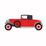 Red cartoon retro car. Stock Photos