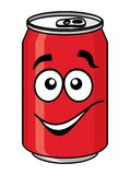 Red cartoon soda or soft drink can Stock Images