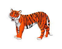 Red cartoon tiger Stock Photos