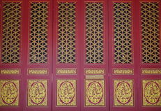 Red carve door Royalty Free Stock Image