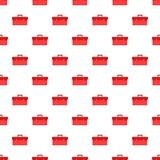 Red case pattern, cartoon style Stock Photography