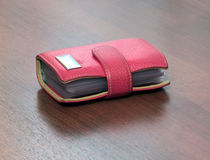 Red case for visiting cards Stock Images