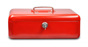 Red cash box. On white background Stock Images