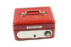 Red cash box. On white background Royalty Free Stock Image