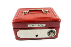 Red cash box. On white background Royalty Free Stock Photos