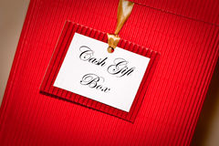 A red Cash gift box. Red gift box used for cah presents Stock Images