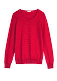 Red cashemire or wool sweater Royalty Free Stock Photos