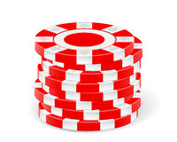 Red casino chips Royalty Free Stock Photography