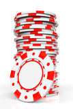 Red Casino Chips Royalty Free Stock Image