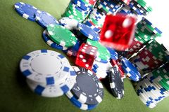 Red casino dice Stock Images