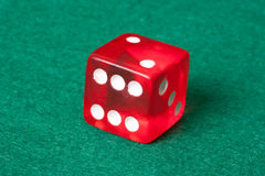 Red casino dice Stock Photo