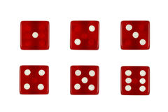 Red casino dice Royalty Free Stock Images