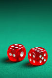 The red casino dice Royalty Free Stock Images