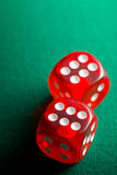 The red casino dice Royalty Free Stock Photos