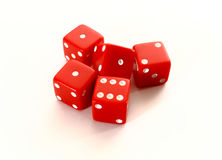 Red casino dice  on white background Royalty Free Stock Photo