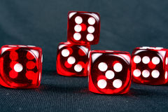 Red Casino Dices Stock Photo
