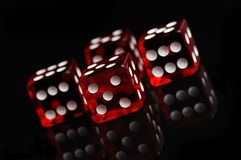 Red casino dices Stock Photos