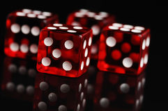 Red casino dices Royalty Free Stock Photos