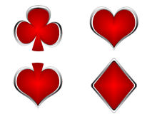 Red casino elements Royalty Free Stock Photos