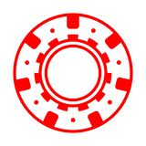 Fun red casino poker chip. Red casino poker chip vector isolated chance gambling leisure luck risk stack success bet entertainment gamble game illustration lucky royalty free illustration