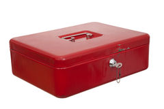 Red casket Stock Image