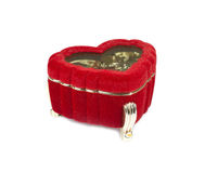 Red casket on white background Royalty Free Stock Photo