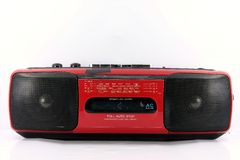 Red Cassette player Royalty Free Stock Image