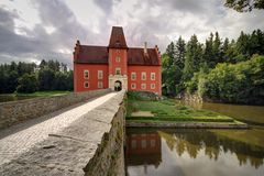 Red castle Stock Photography
