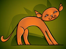 Red cat – vector cartoon. Royalty Free Stock Photography