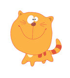 Red_cat. Red whiskered cat with smile Stock Illustration