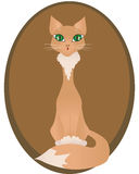 Red cat. With big green eyes - vector Royalty Free Stock Image