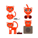 Red cat lying royalty free stock photo