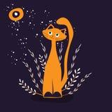 Red cat vector illustration