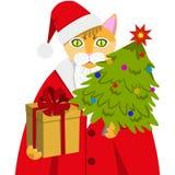 Red Cat Santa Claus Stock Images