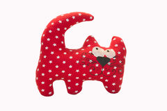 Red cat toy. On a white background Stock Photos