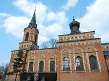 Red catholic church, Lithuania Royalty Free Stock Photo