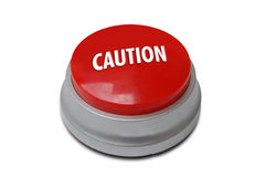 Red Caution Button Royalty Free Stock Images