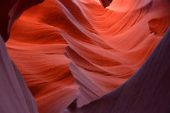 Red caves. Perfect lighting in the dreamy Arizona caves royalty free stock photos