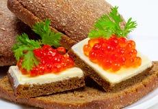 Red caviar appetizer Stock Photos
