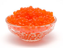Red caviar in the bowl  Stock Image