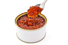 Red caviar can Royalty Free Stock Photo
